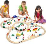 Holzeisenbahn Set für Kinder