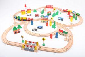 point-kids großes Holzeisenbahn-Set